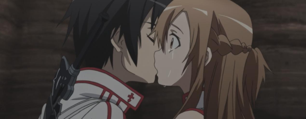 Поцелуй Асуны и Кирито